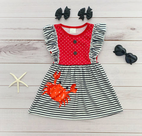 Crab Flutter Dress