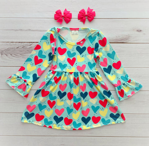 Colorful Hearts Valentine's Dress