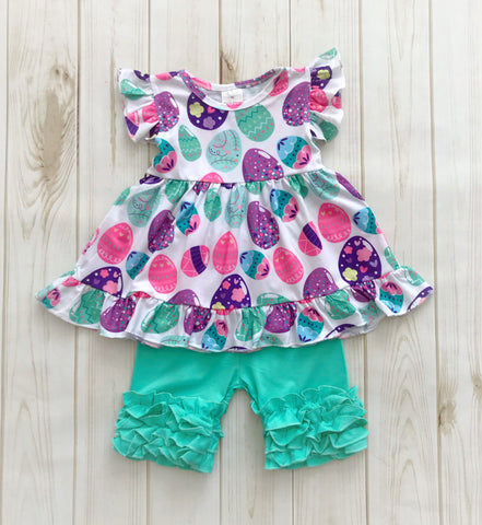 Aqua Easter Egg Short Set {LIMITED}