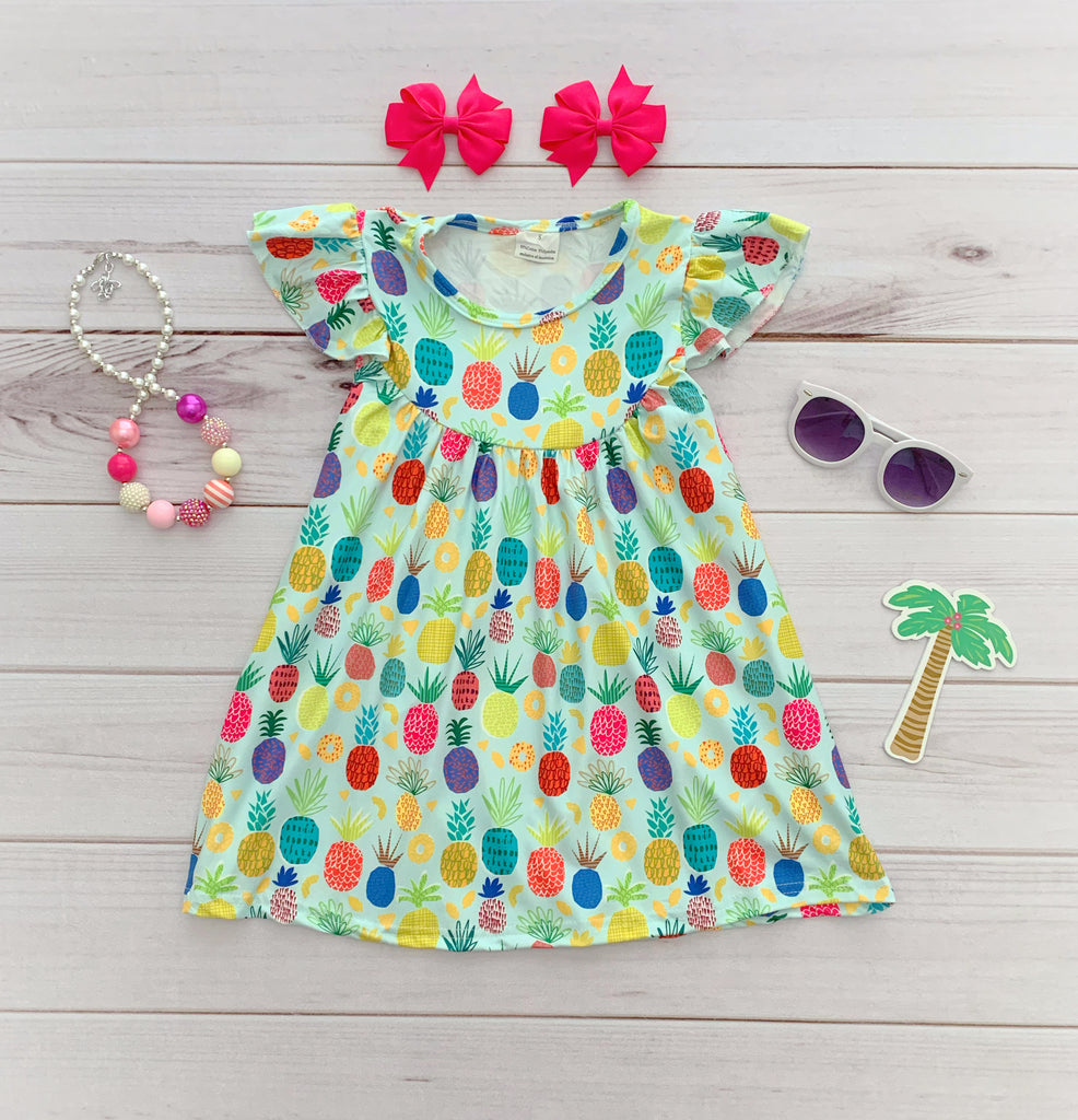 Colorful Pineapple Pearl Dress