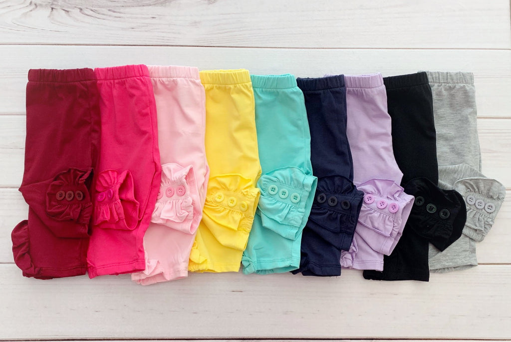 Button Capris - NINE Colors!!!