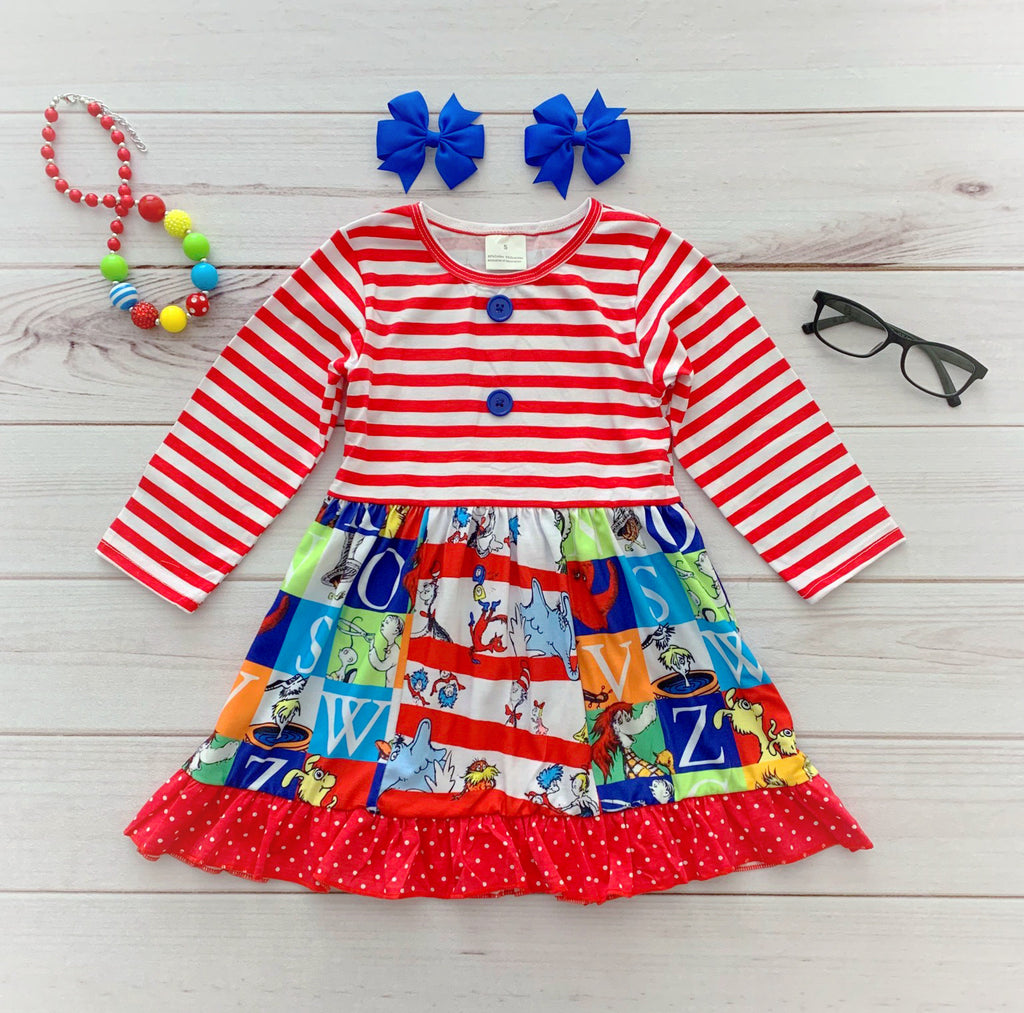 LONG SLEEVE Dr. Seuss Panel Dress {Limited}