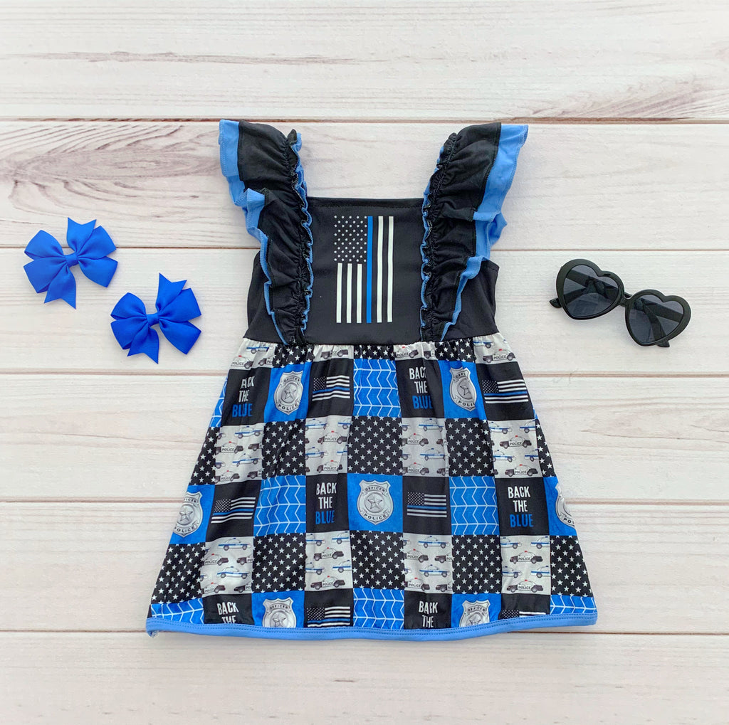 Thin BLUE Line Boutique Dress