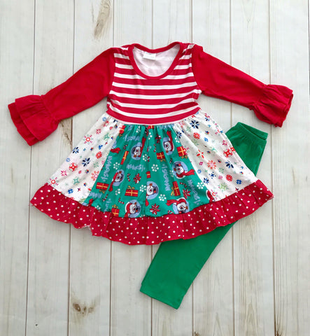 """Frosty"" Boutique Dress/Legging Set {LIMITED EDITION}"