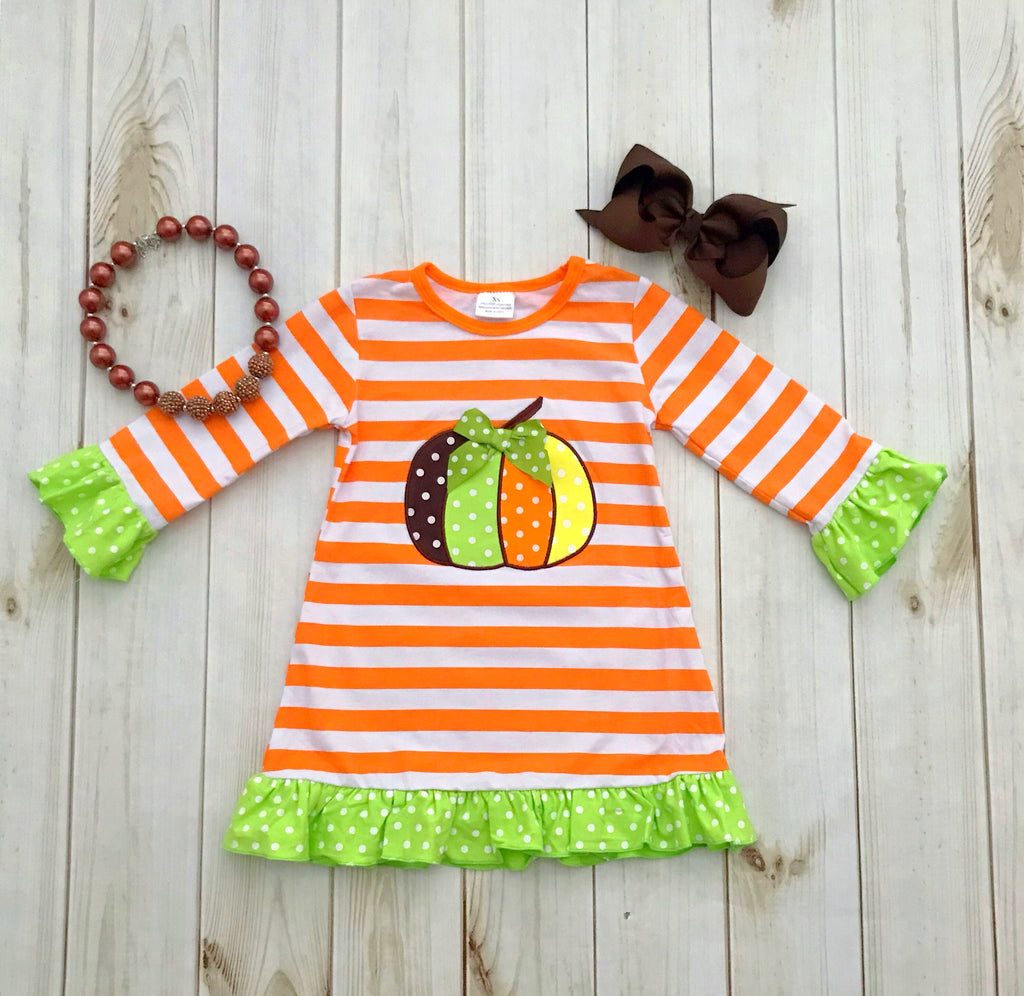Fall Pumpkin Dress - Orange