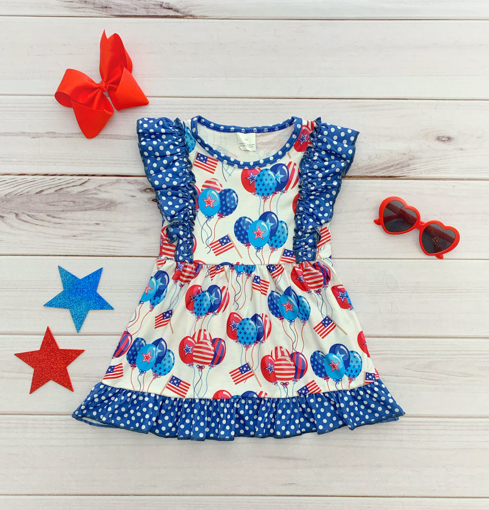 All American Girl Flutter Dress