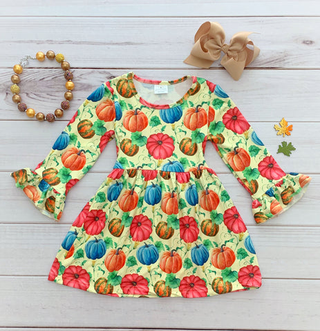 Colorful Pumpkin Boutique Dress