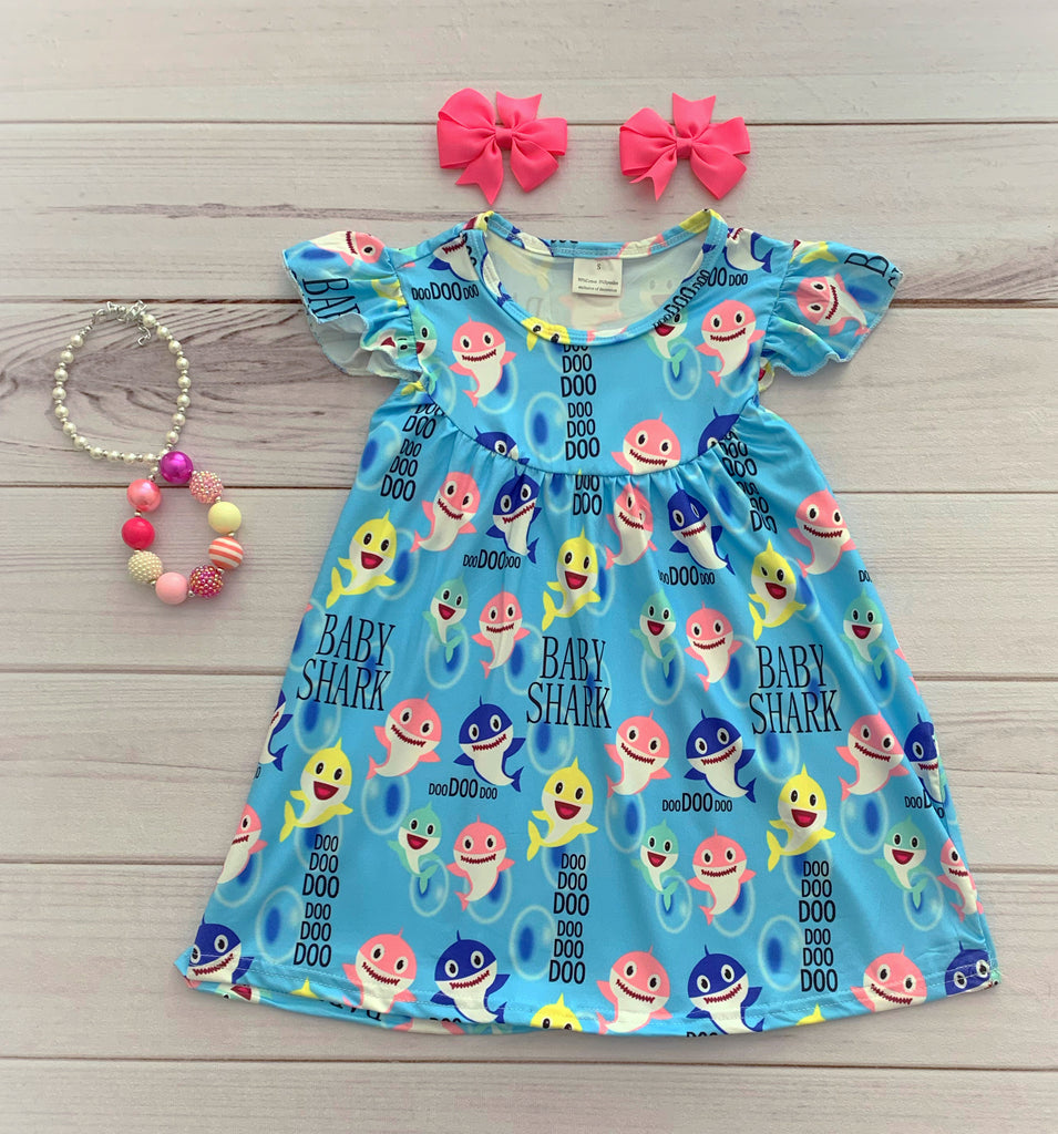 """Baby Shark"" Pearl Dress"