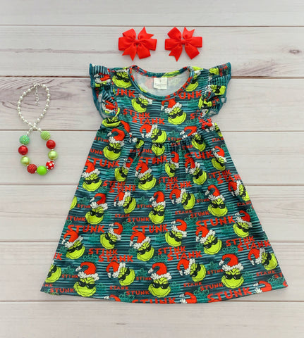 """Stink Stank Stunk"" Grinch Pearl Dress"