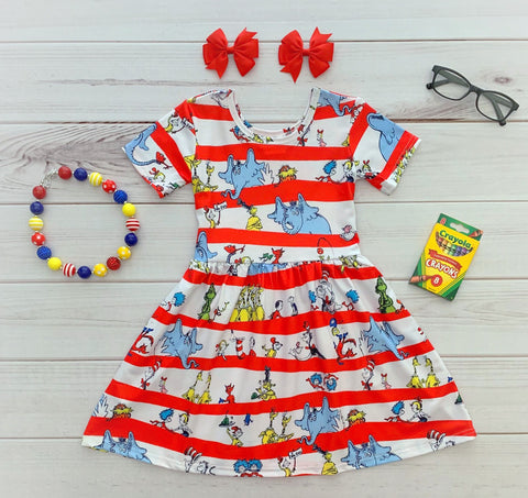 Dr. Seuss Twirl Dress {Limited}