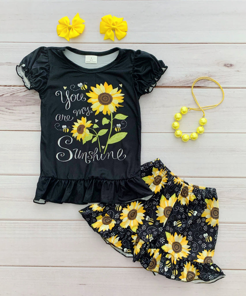 """You are my Sunshine"" Short Set"