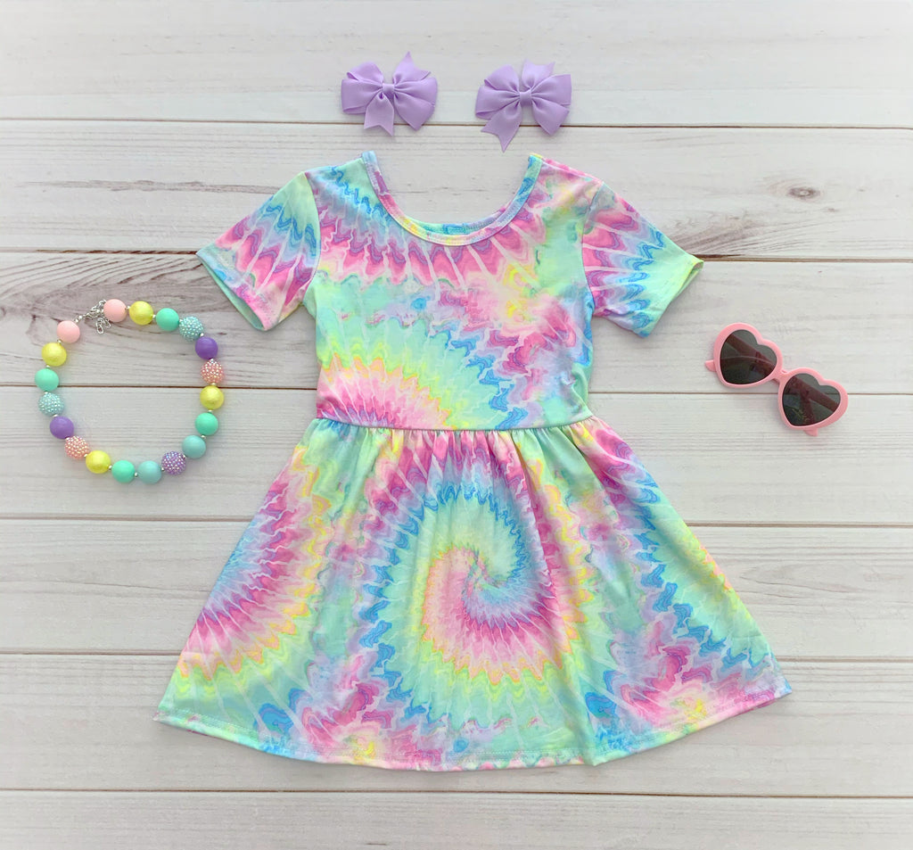 Trendy Tie-Dye TWIRL Dress