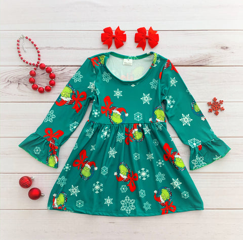 """Merry Grinchmas"" Boutique Dress"