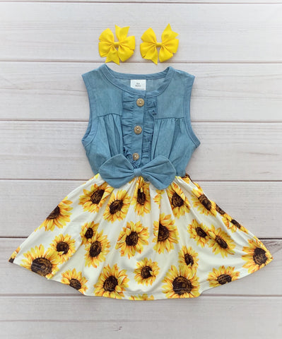 Denim Sunflower Boutique Dress