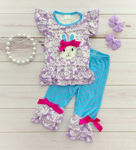 Easter Bunny Blossom Pant Set