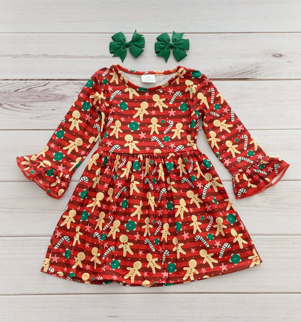 Gingerbread Man Holiday Boutique Dress