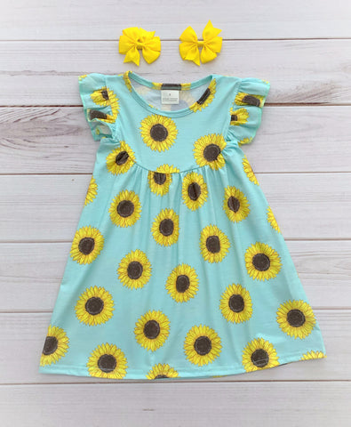 Spring Sunflower Pearl Dress