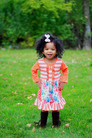 Colorful Pumpkin Panel Dress {EXCLUSIVE}