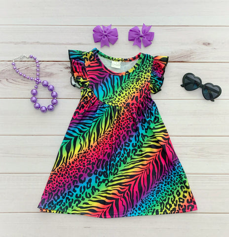 "Rainbow ""Wild Thing"" Pearl Dress"
