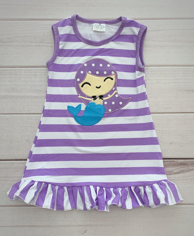 Striped Mermaid Boutique Dress
