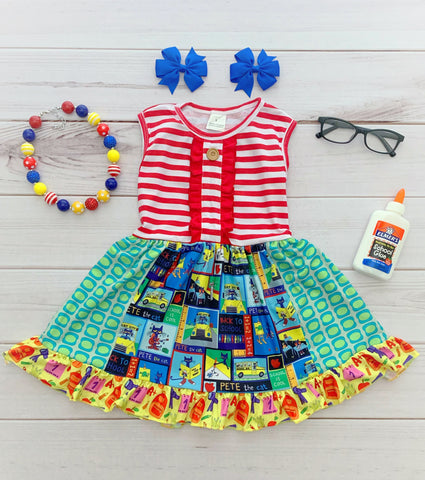 Pete The Cat Panel Dress {EXCLUSIVE}