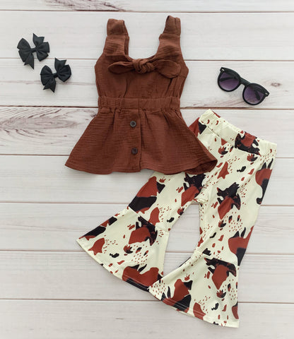 Cowhide Bell Bottom Outfit