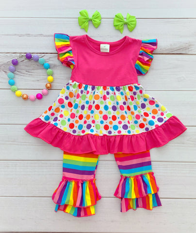 """Emmeline"" Rainbow Boutique Outfit"