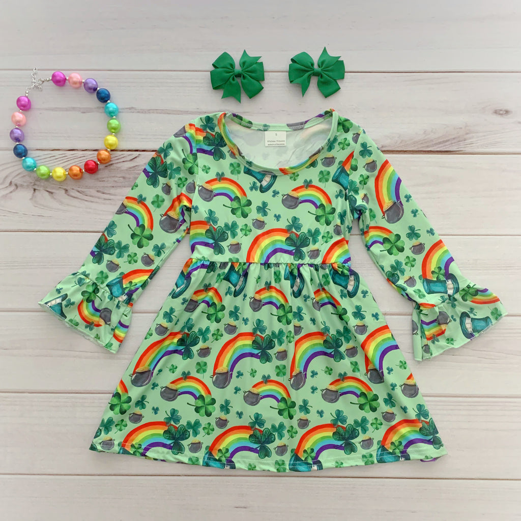 Rainbow St. Patty's Day Boutique Dress