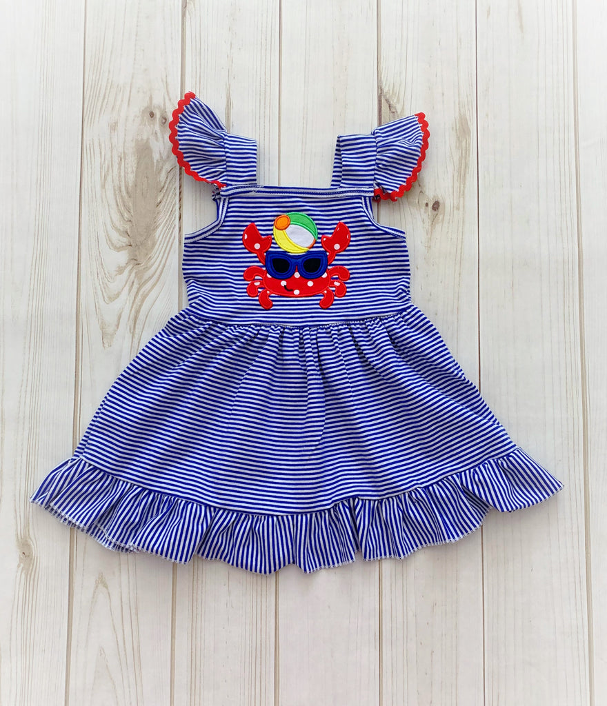 Crabby Beach Days Summertime Dress