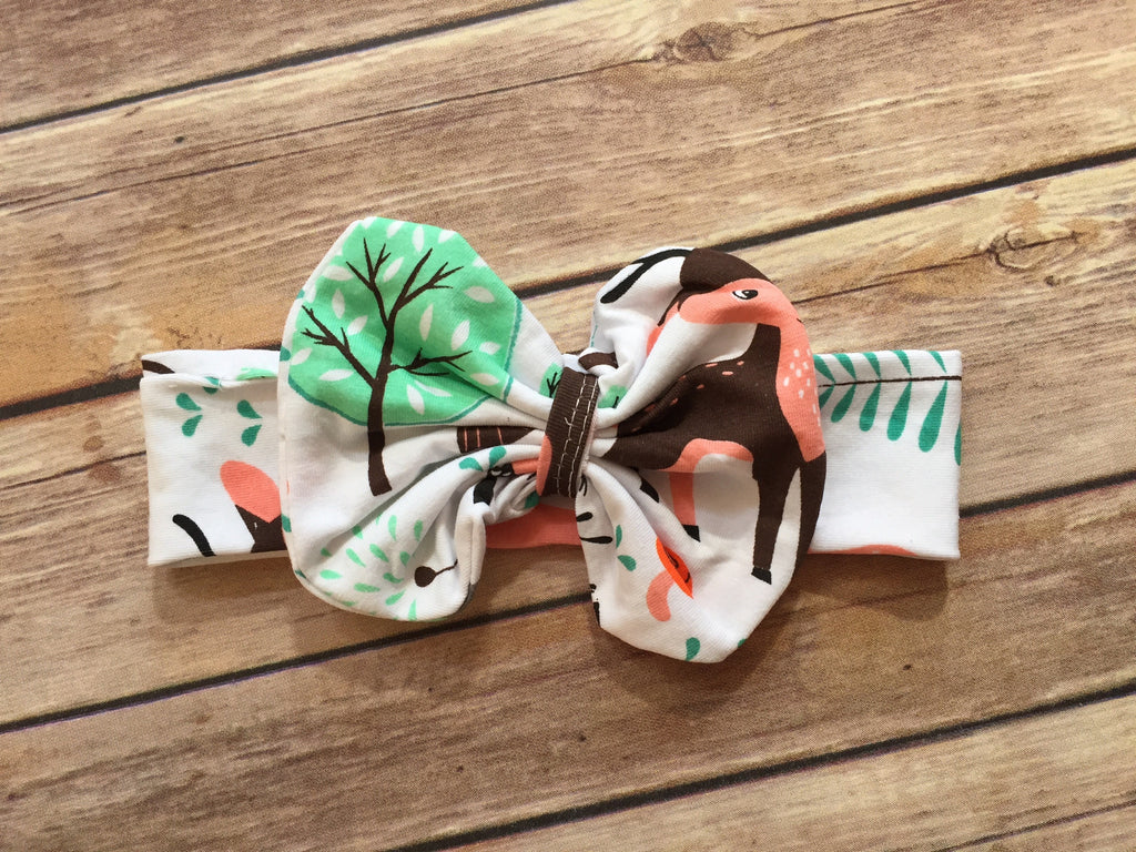 Trendy Bow Headband-Woodland
