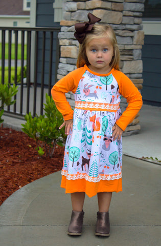 Orange Woodland Boutique Dress