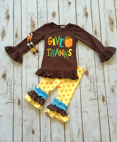 """Give Thanks"" Pant Set"