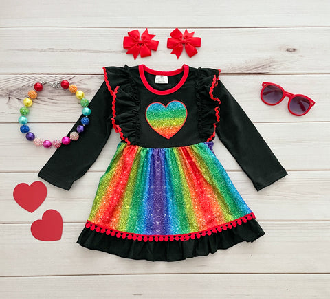 Sparkly Heart Valentine's Boutique Dress