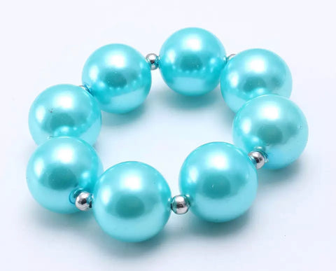 Solid Pearls Necklace/Bracelet SET - many colors!