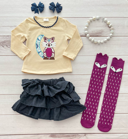 Fox Skirt Set w/Socks - LIMITED!