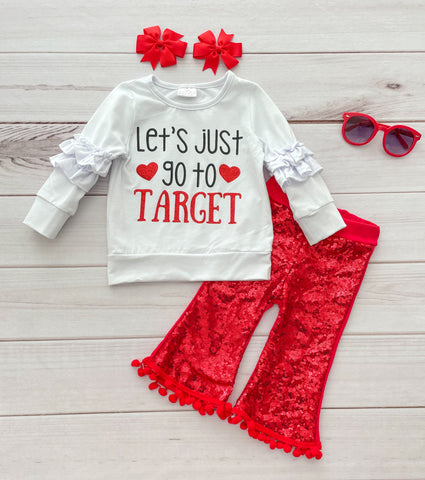 """Lets just go to Target"" Sequins Pant Set - LIMITED!"