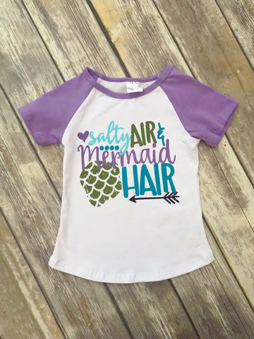 """Salty Air & Mermaid Hair"" Tee"