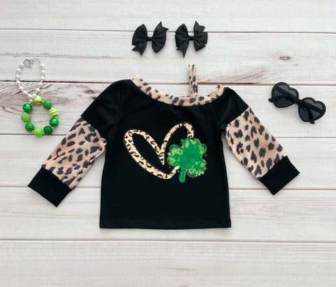 Cold Shoulder Shamrock Tee