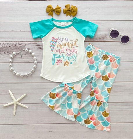 """Be a Mermaid & Make Waves"" Bells Set"