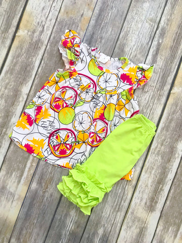 Summer Citrus Capri Set {LIMITED EDITION}