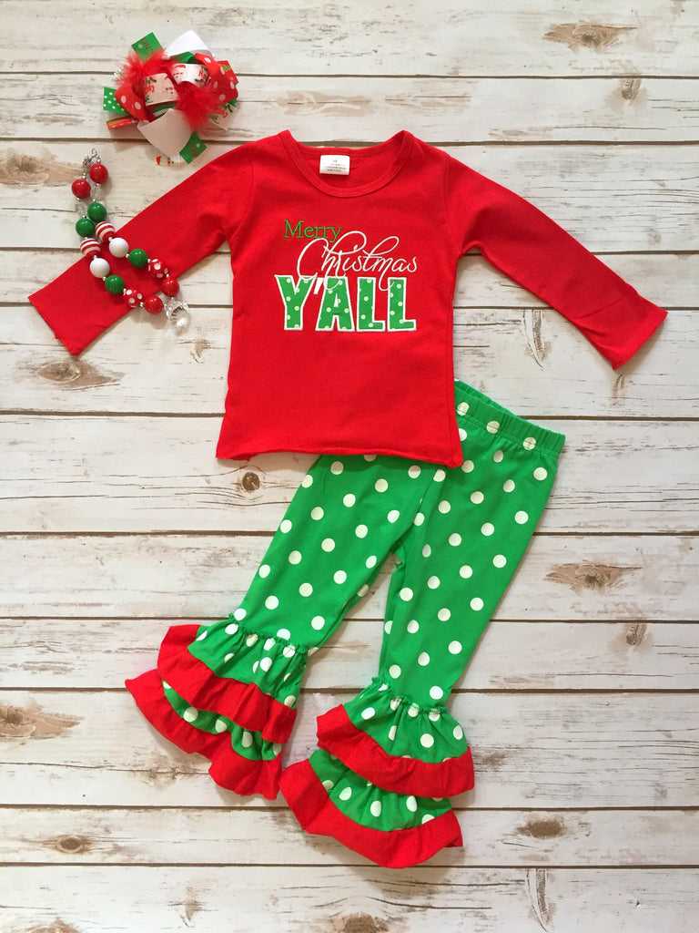 merry christmas yall boutique outfit