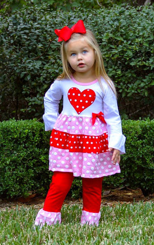 Little Miss Sweetness Valentine's Outfit