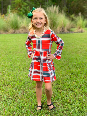 Plaid Holiday Boutique Dress
