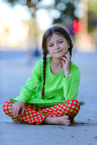 Simply Christmas Lime/Red Dots Pant Set