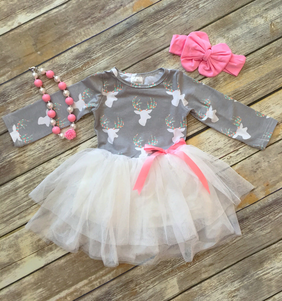Sweet Deer Tutu Dress
