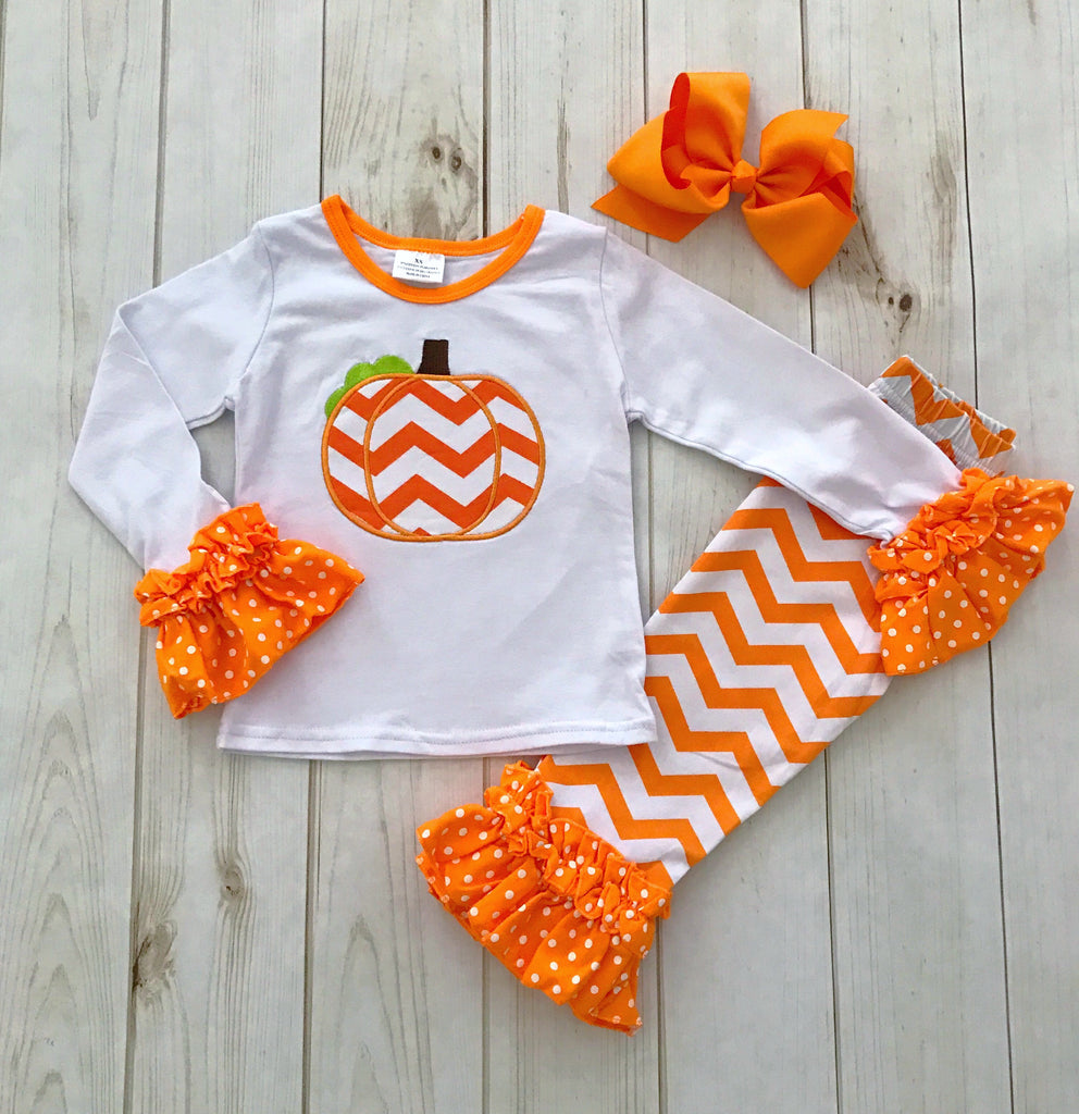 Chevron Pumpkin Boutique Outfit