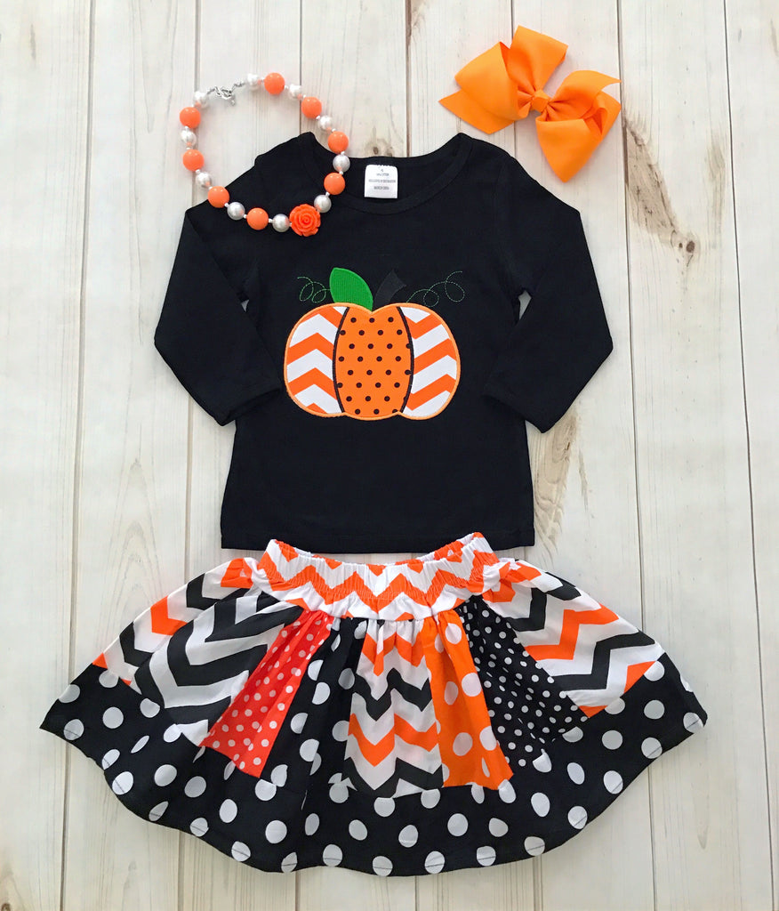 cb495b5a5 Fall Pumpkin Boutique Outfit, girls boutique clothing – Rylee Faith Designs