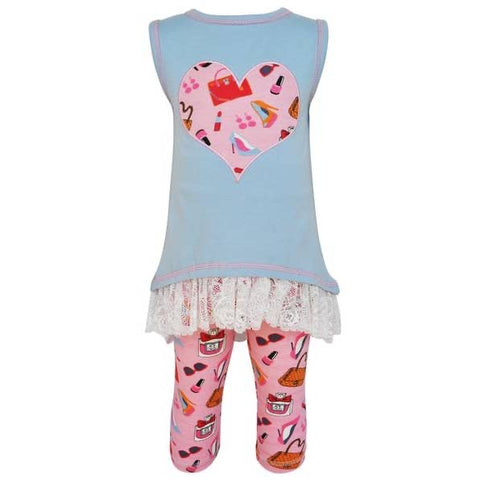 High Low Dress Up Heart Tunic & Legging Set