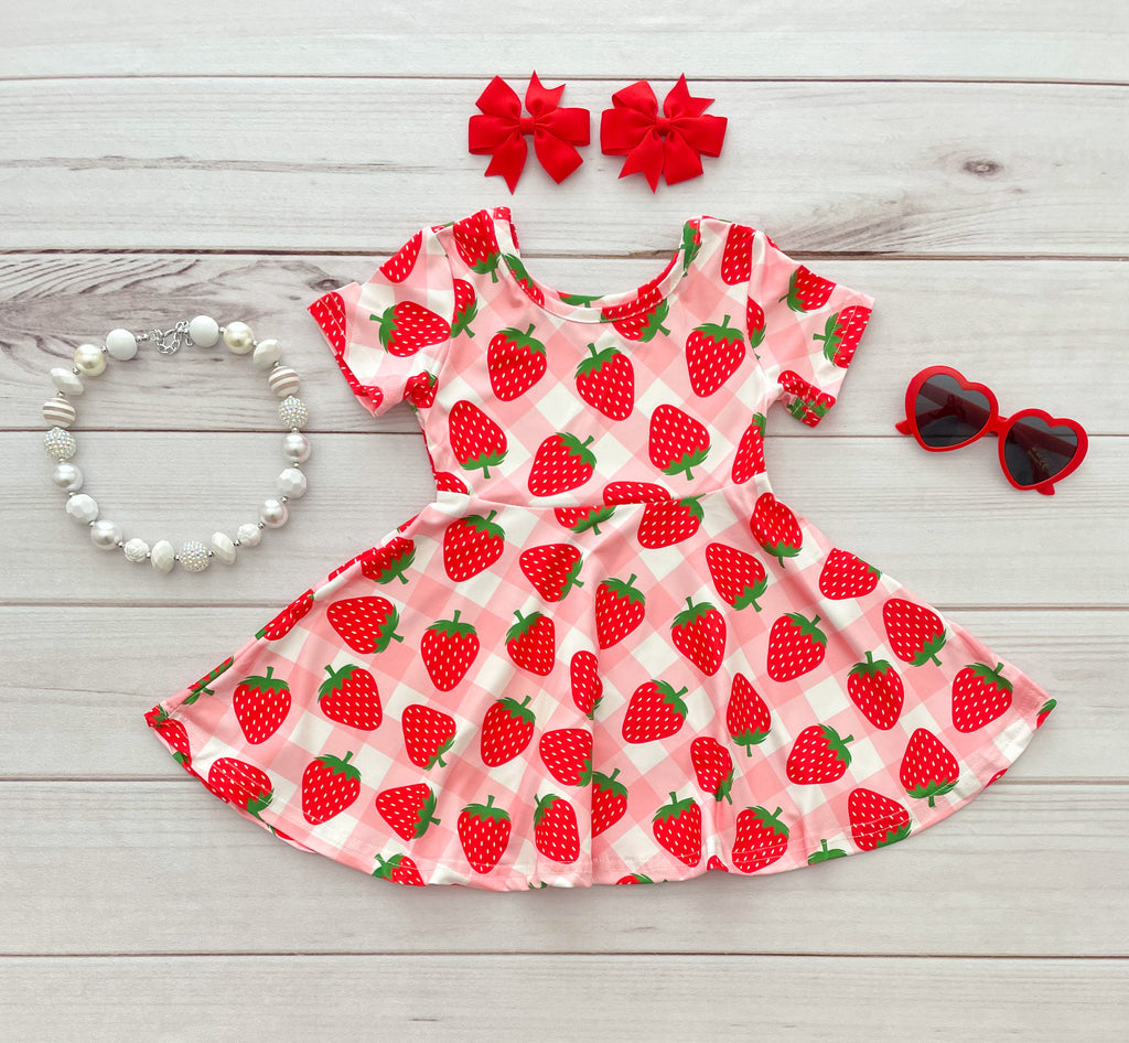 Strawberry Twirl Dress