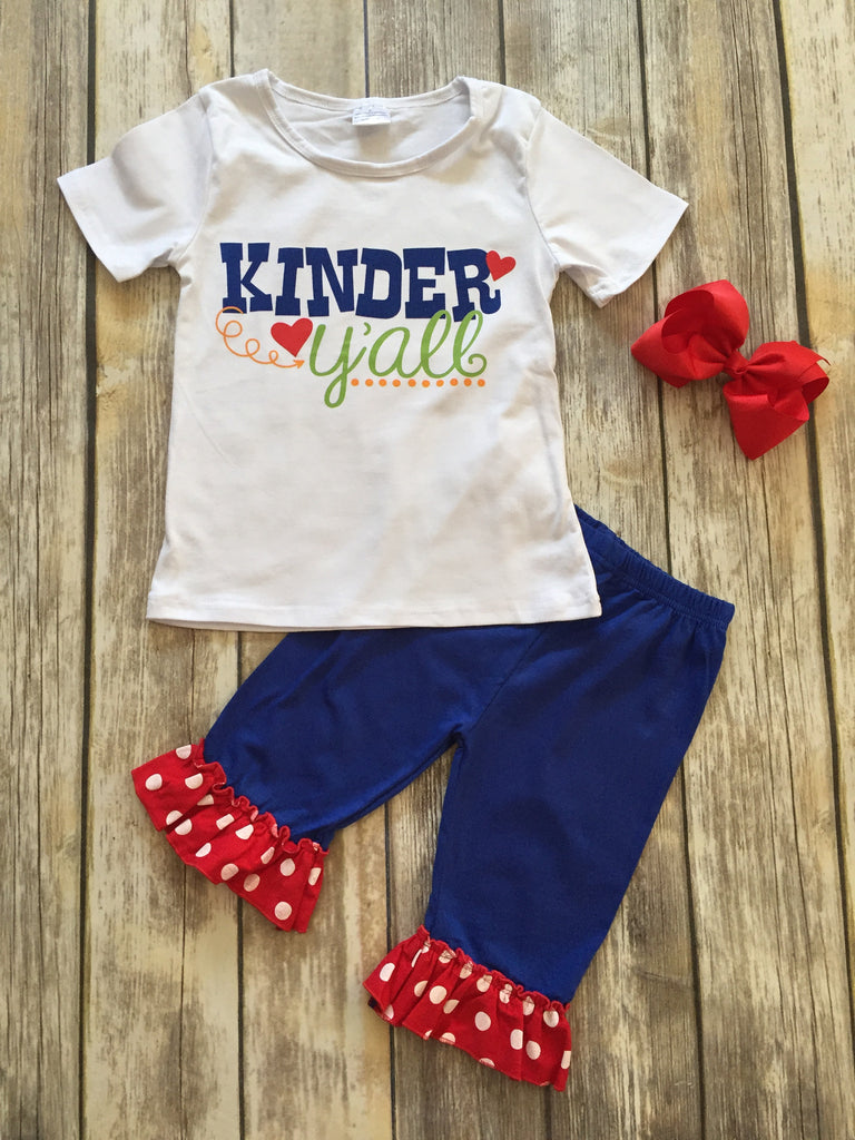 """Kinder Y'all"" School Outfit"